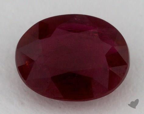 <b>1.26</b> carat Oval Natural Ruby