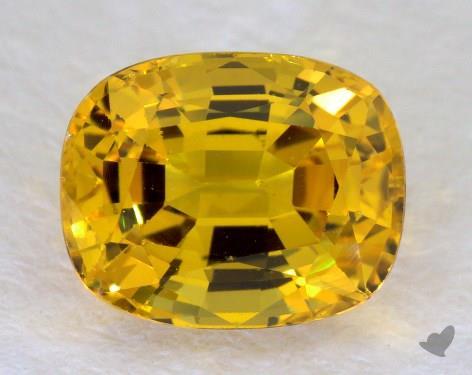 <b>2.21</b> carat Cushion Natural Yellow Sapphire