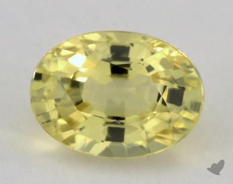 <b>1.40</b> carat Oval Natural Yellow Sapphire