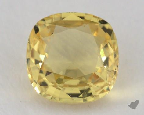 <b>1.01</b> carat Cushion Natural Yellow Sapphire
