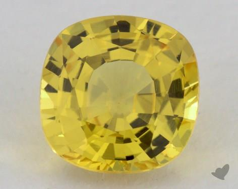 <b>1.06</b> carat Cushion Natural Yellow Sapphire