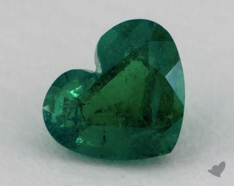 <b>1.10</b> carat Heart Natural Green Emerald
