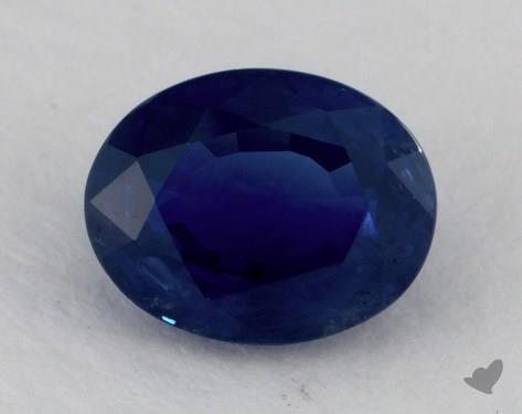 <b>1.02</b> carat Oval Natural Blue Sapphire