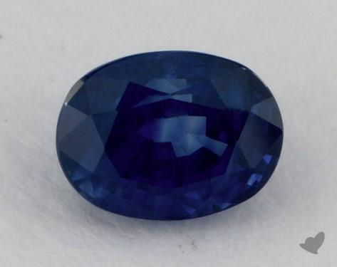 <b>1.29</b> carat Oval Natural Blue Sapphire