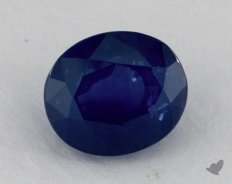 <b>1.32</b> carat Oval Natural Blue Sapphire