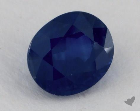 <b>1.20</b> carat Oval Natural Blue Sapphire
