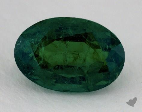 <b>4.31</b> carat Oval Natural Green Emerald