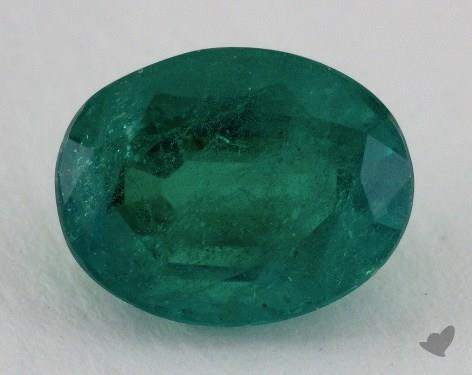 <b>4.18</b> carat Oval Natural Green Emerald