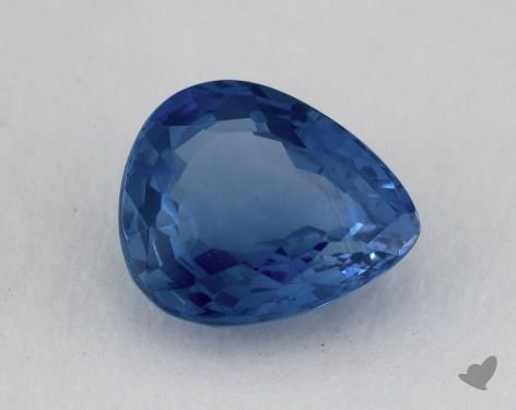 <b>2.00</b> carat Pear Natural Blue Sapphire