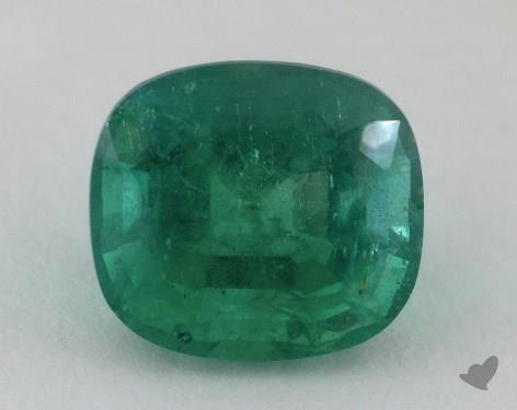 <b>5.16</b> carat Cushion Natural Green Emerald