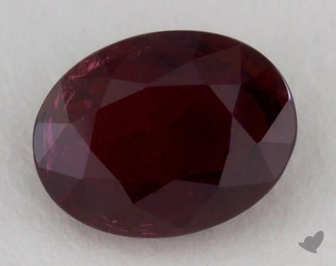<b>1.64</b> carat Oval Natural Ruby
