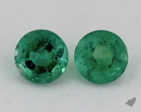 <b>1.19</b> carat Round Natural Green Emerald
