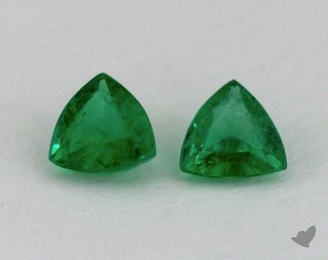 <b>1.00</b> carat Trillion Natural Green Emerald