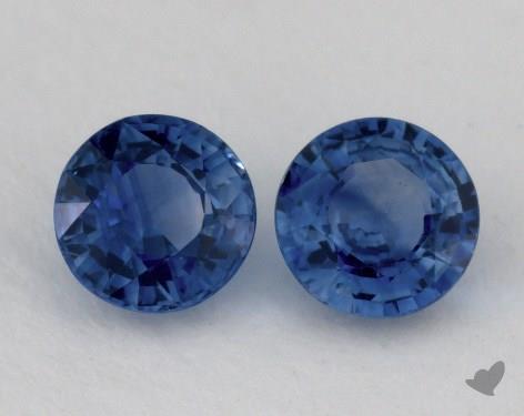 <b>1.17</b> Total Carat Weight Round Natural Blue Sapphires