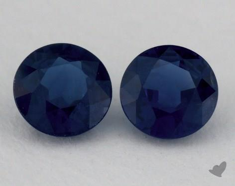<b>1.25</b> Total Carat Weight Round Natural Blue Sapphires