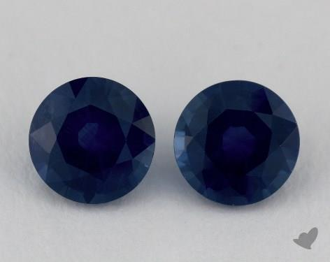 <b>1.76</b> Total Carat Weight Round Natural Blue Sapphires