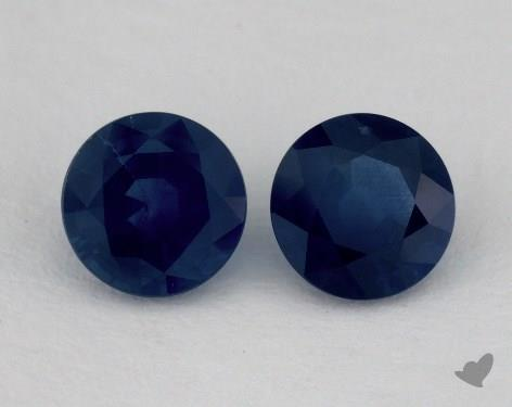 <b>1.67</b> Total Carat Weight Round Natural Blue Sapphires