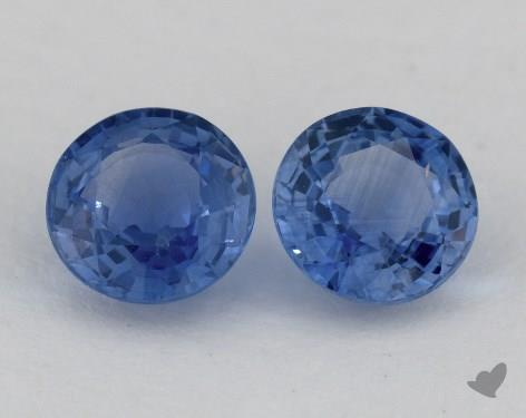 <b>2.16</b> Total Carat Weight Round Natural Blue Sapphires