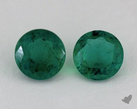 <b>2.65</b> Total Carat Weight Round Natural Green Emeralds
