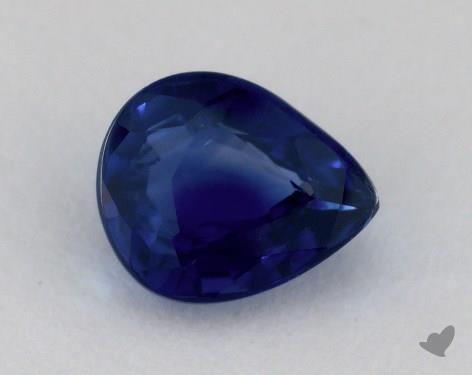 <b>1.13</b> carat Pear Natural Blue Sapphire