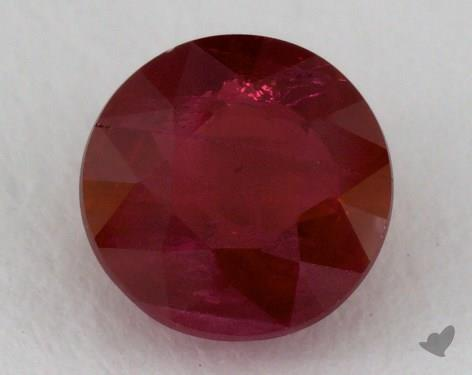 <b>1.04</b> carat Round Natural Ruby