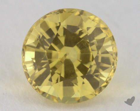 <b>1.52</b> carat Round Natural Yellow Sapphire