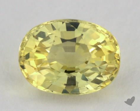 <b>1.90</b> carat Oval Natural Yellow Sapphire