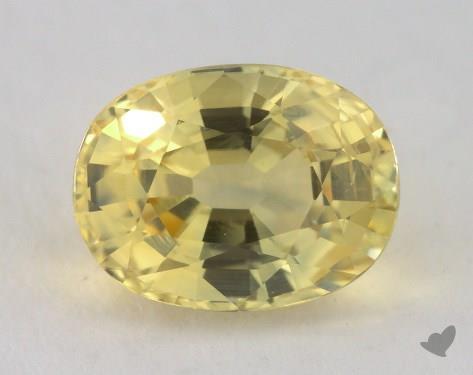 <b>2.28</b> carat Oval Natural Yellow Sapphire
