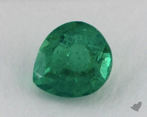 <b>0.79</b> carat Pear Natural Green Emerald