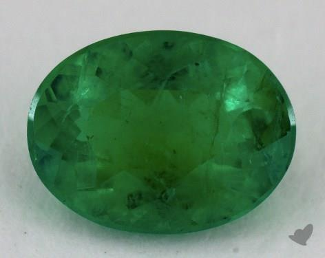 <b>1.07</b> carat Oval Natural Green Emerald