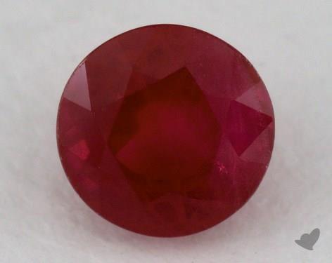 <b>1.10</b> carat Round Natural Ruby