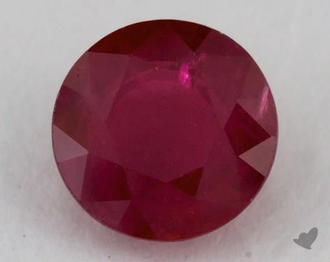 <b>1.34</b> carat Round Natural Ruby