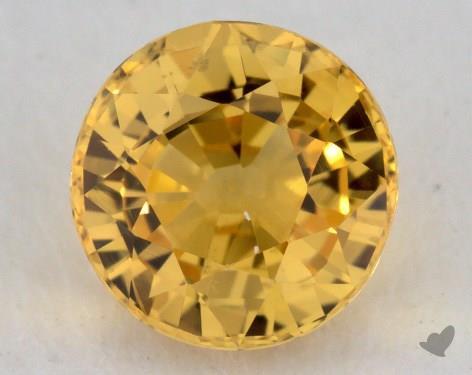 <b>1.33</b> carat Round Natural Yellow Sapphire