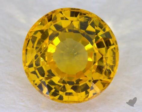 <b>1.53</b> carat Round Natural Yellow Sapphire