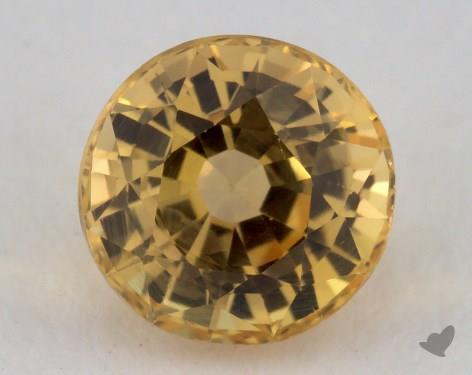<b>1.36</b> carat Round Natural Yellow Sapphire