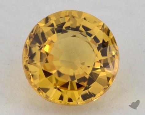 <b>1.00</b> carat Round Natural Yellow Sapphire