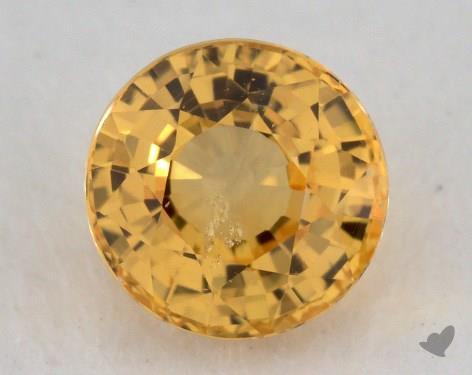 <b>1.15</b> carat Round Natural Yellow Sapphire
