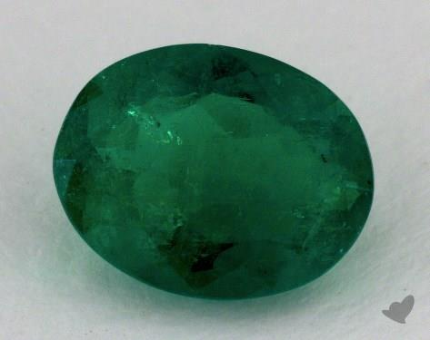 <b>1.81</b> carat Oval Natural Green Emerald