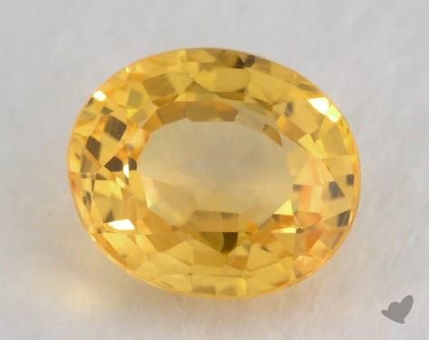 <b>1.23</b> carat Oval Natural Yellow Sapphire