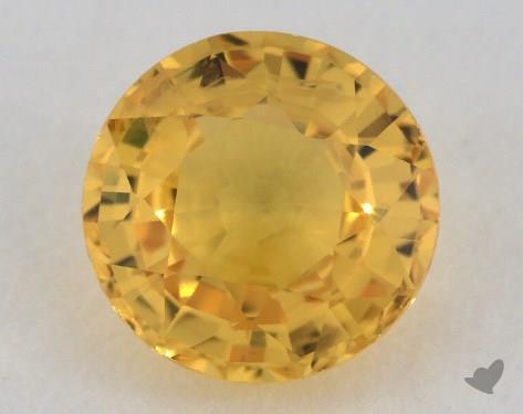 <b>1.02</b> carat Round Natural Yellow Sapphire