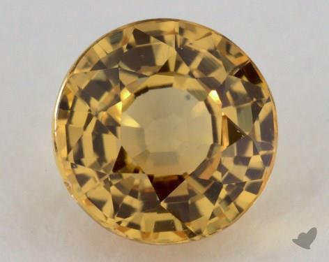 <b>1.41</b> carat Round Natural Yellow Sapphire