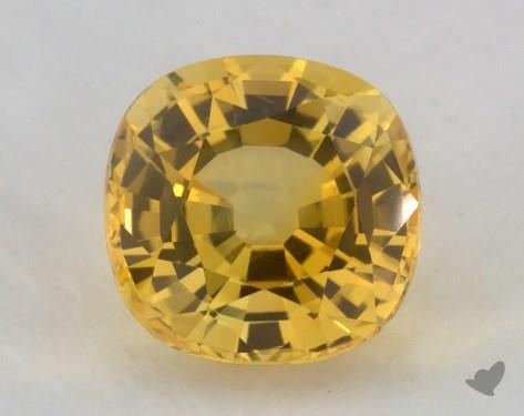 <b>1.26</b> carat Cushion Natural Yellow Sapphire