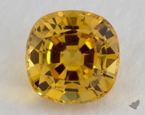 <b>1.73</b> carat Cushion Natural Yellow Sapphire