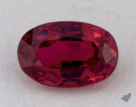 <b>0.85</b> carat Oval Natural Ruby