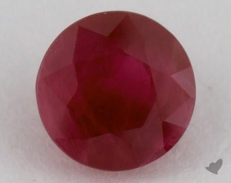 <b>1.11</b> carat Round Natural Ruby