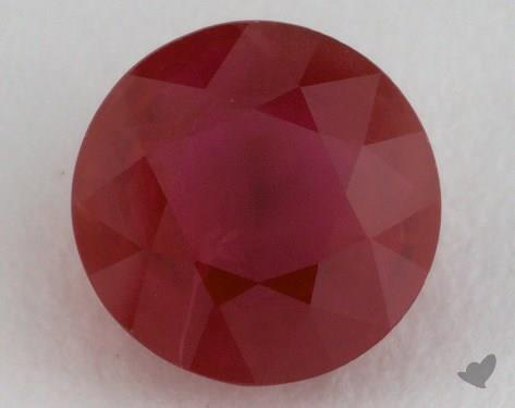 <b>1.35</b> carat Round Natural Ruby