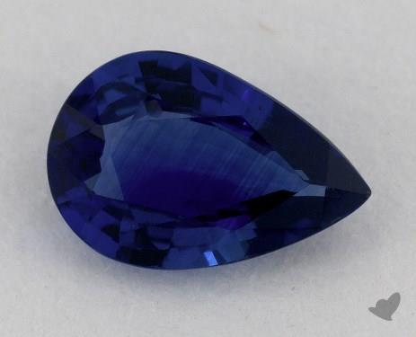 <b>1.24</b> carat Pear Natural Blue Sapphire