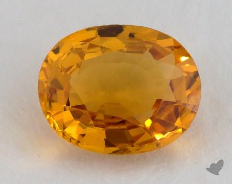 <b>1.38</b> carat Oval Natural Yellow Sapphire