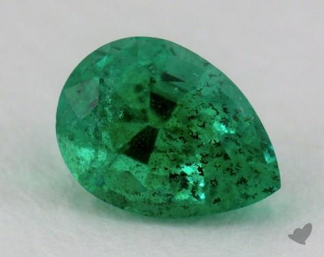 <b>0.81</b> carat Pear Natural Green Emerald