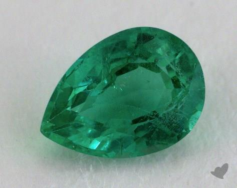 <b>0.73</b> carat Pear Natural Green Emerald